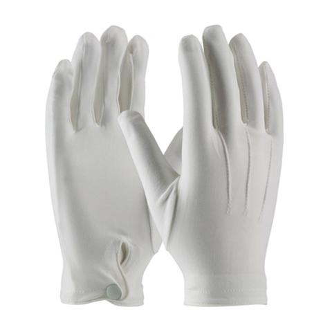 Gloves, white ceremonial with snap